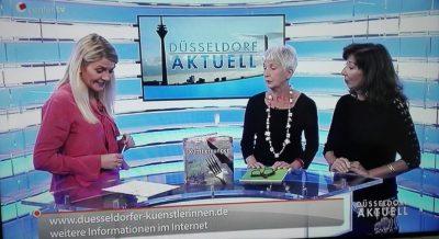 Ausschnitt aus dem Filmbeitrag von CenterTV, Buchpräsentation Künstlerhunger mit Kollegin Helga Weidenfeld.