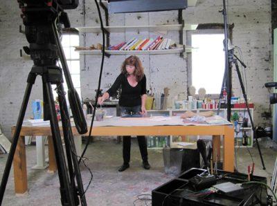 Bild von den Filmaufnahmen für die ONLINE-Videos Kunstschule1